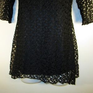 c1a0689403b Brittany Black Tops - Brittany Black Lace Tunic Top NWT 4 for $20